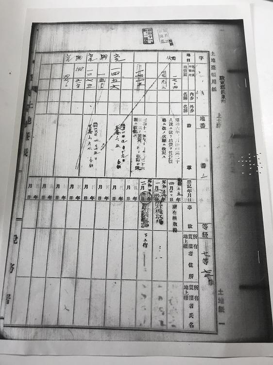 電子化される前の古い閉鎖登記簿